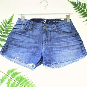 7 For All Mankind Vintage Cutoff Jean Shorts